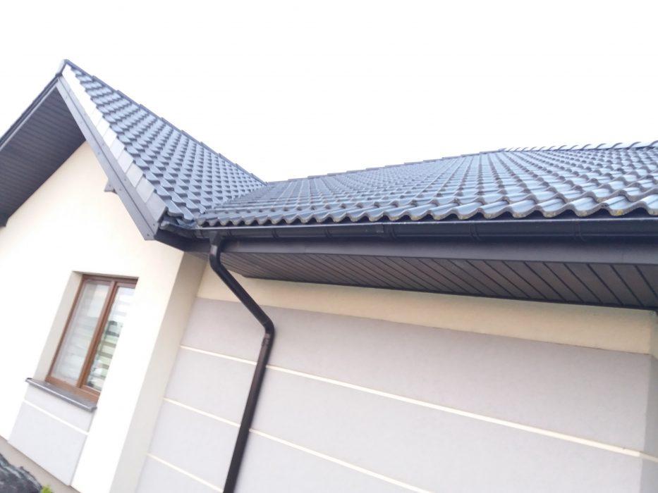 rynny - orynnowanie dachu na domu jednorodzinnym